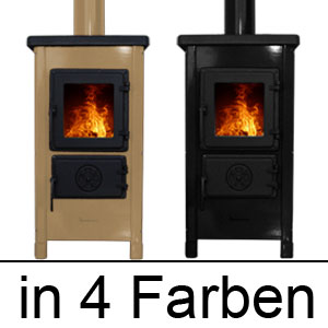 kamin ofen 6kw rot schwarz grau oder creme neu k chen herd holz ofen kachel ofen ebay. Black Bedroom Furniture Sets. Home Design Ideas